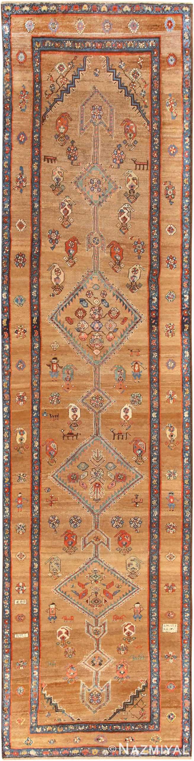 Tribal Antique Persian Serab Runner Rug 48807 Nazmiyal