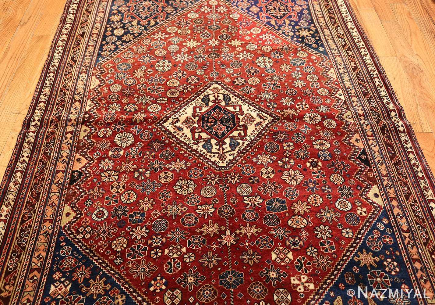 Tribal Design Antique Persian Qashqai Oriental Rug 50647