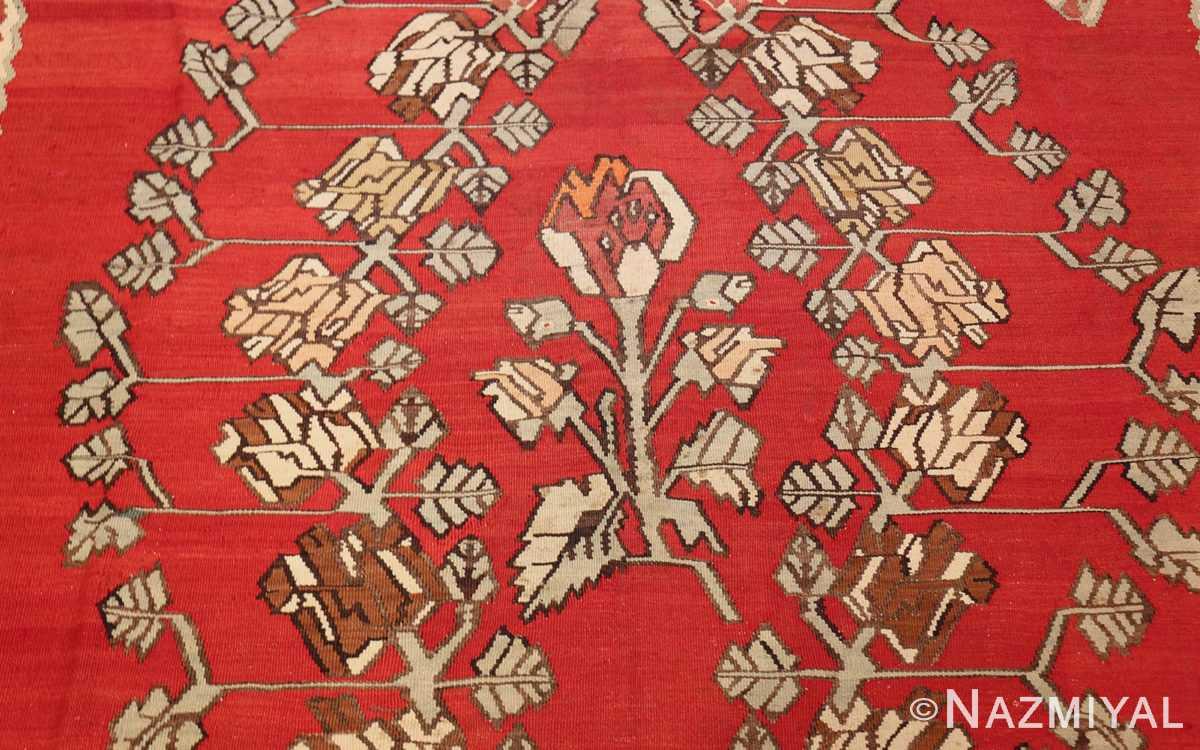 vintage floral turkish kilim rug 50678 center Nazmiyal