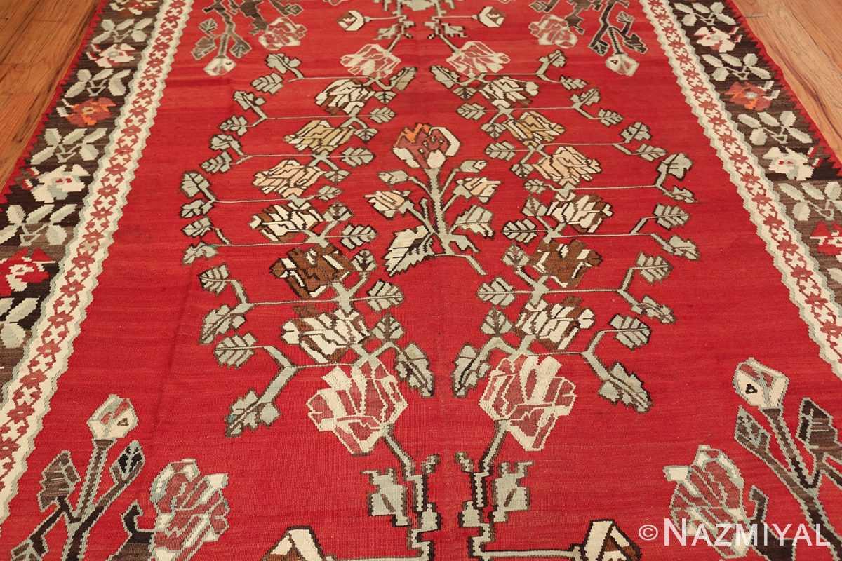 vintage floral turkish kilim rug 50678 middle Nazmiyal