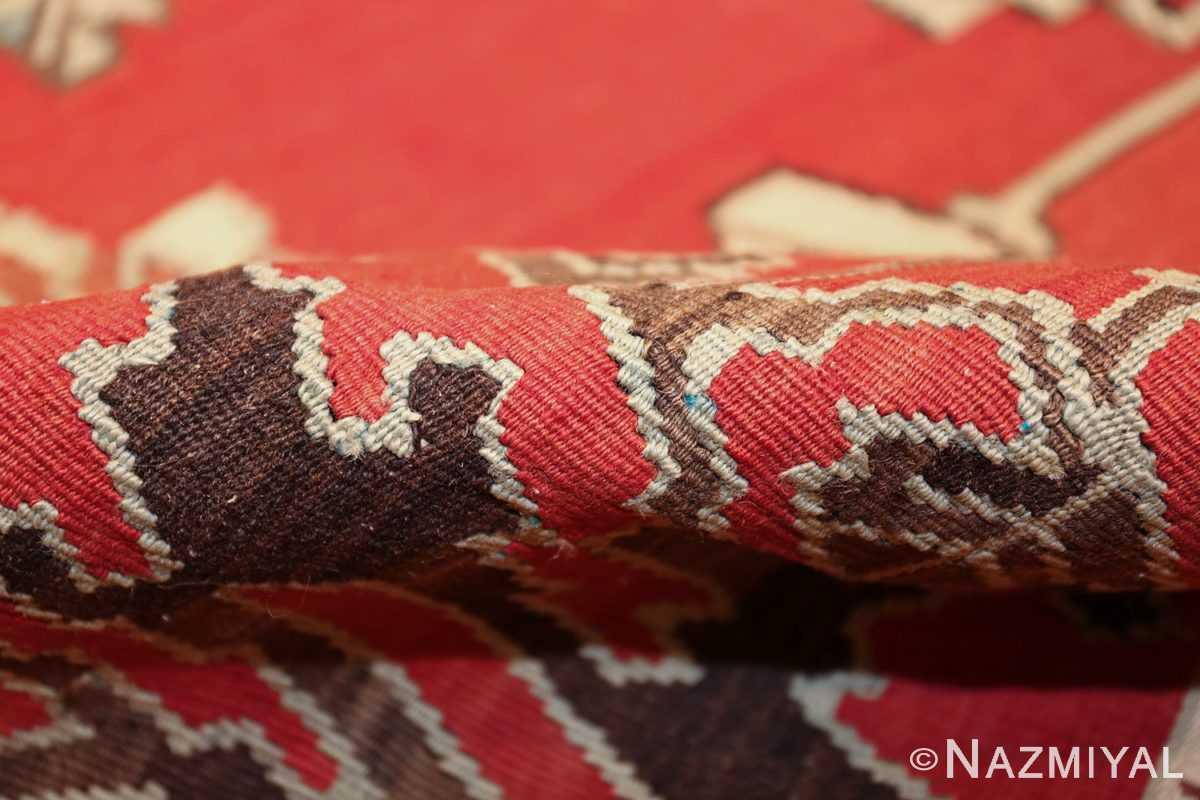 vintage floral turkish kilim rug 50678 pile Nazmiyal
