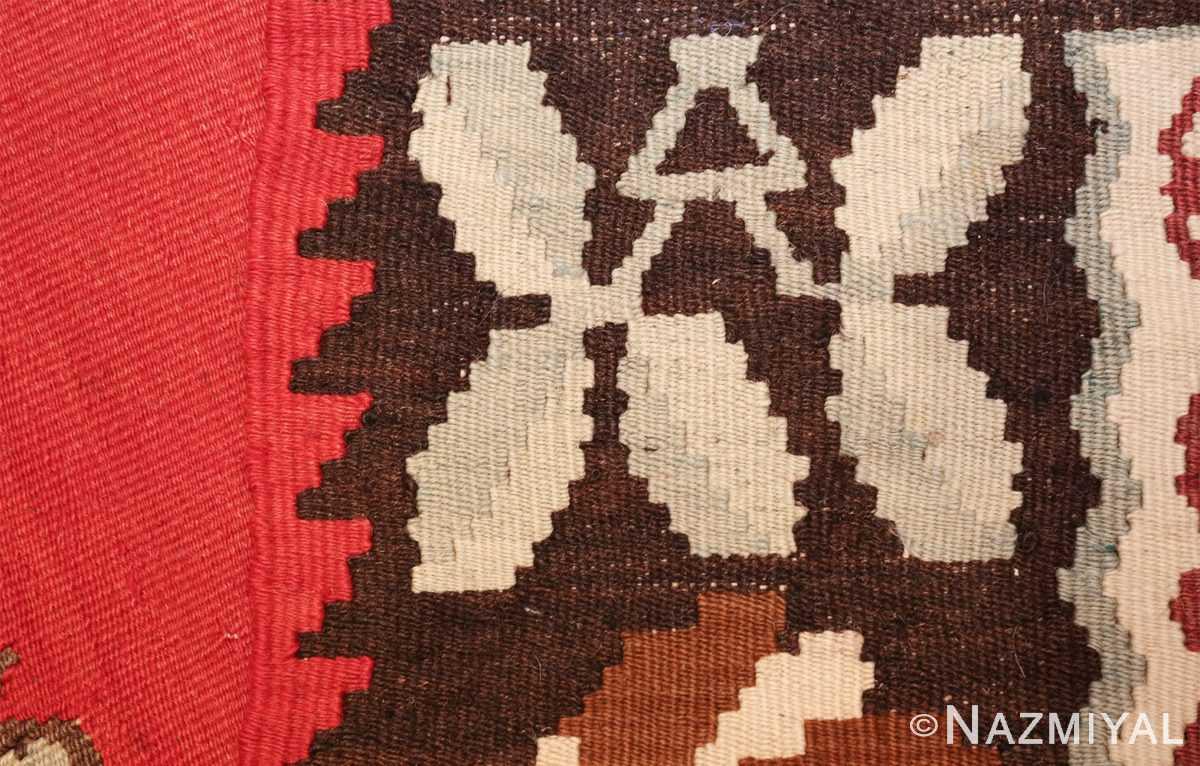 vintage floral turkish kilim rug 50678 weave Nazmiyal