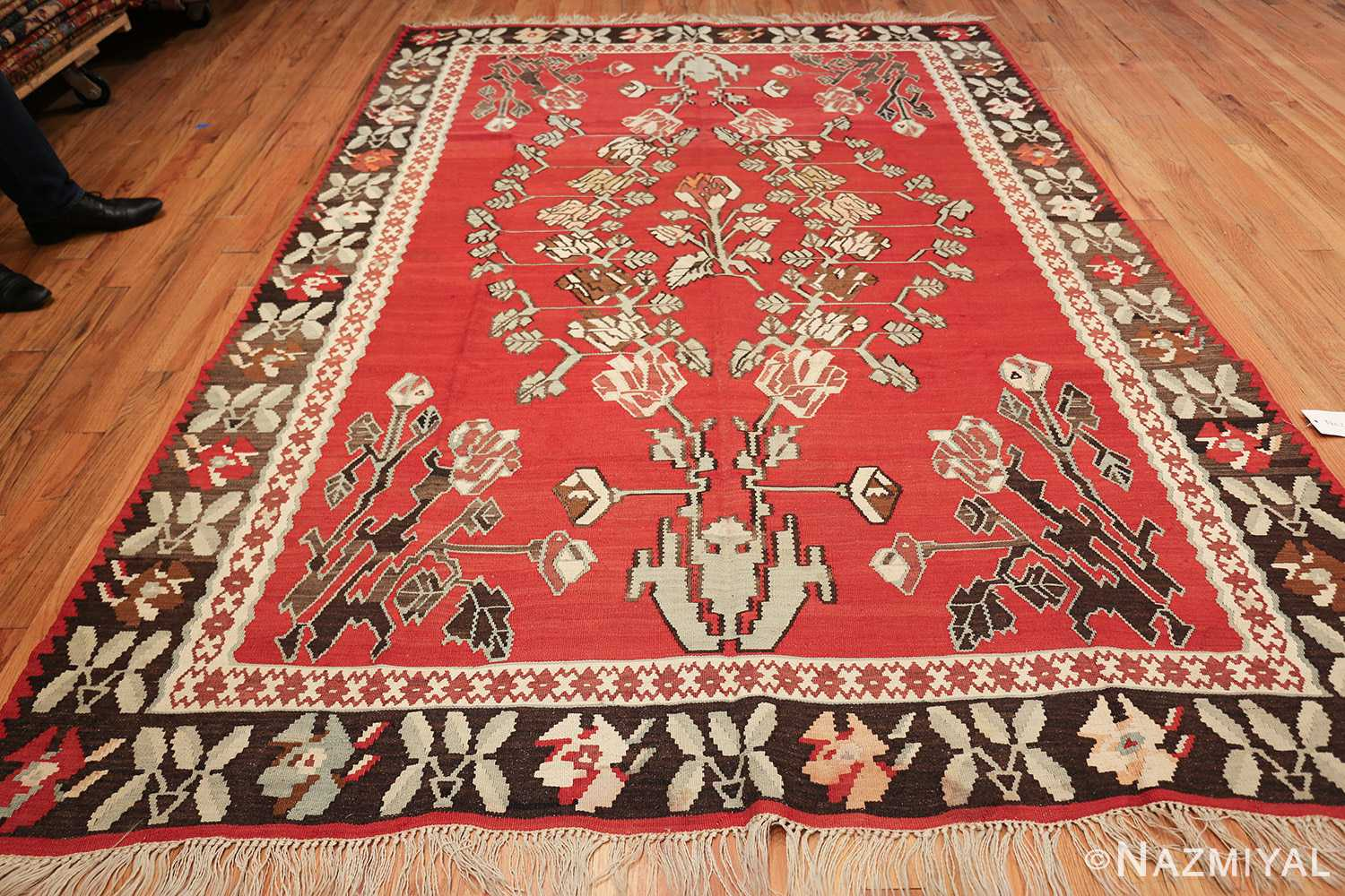 vintage floral turkish kilim rug 50678 whole Nazmiyal