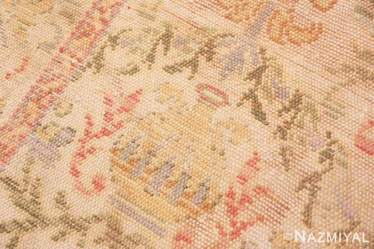 Weave detail Decorative Large Antique Spanish rug 50581 by Nazmiyal
