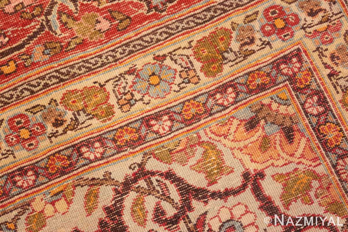 Weave detail Fine Antique Persian Tabriz Oriental rug 50572 by Nazmiyal