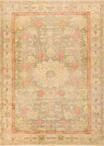 Antique Silk Turkish Kayseri Shabby Chic Rug 48938 Nazmiyal