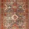 Antique Tribal Persian Bakhtiari Shabby Chic Rug 48937 Nazmiyal