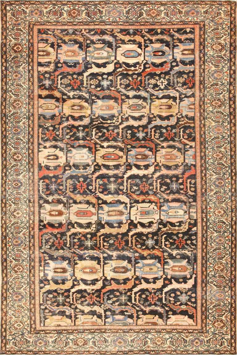 Antique Tribal Shabby Chic Antique Malayer Rug 48935 Nazmiyal