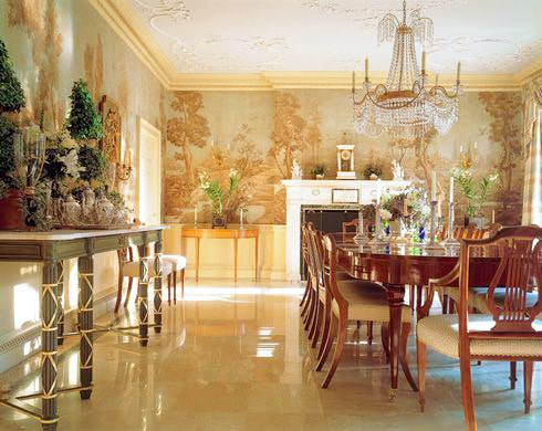Dining Room by Bunny Williams Interiors Nazmiyal