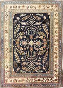 Fine Blue Background Antique Khorassan Persian Rug 48768 Nazmiyal