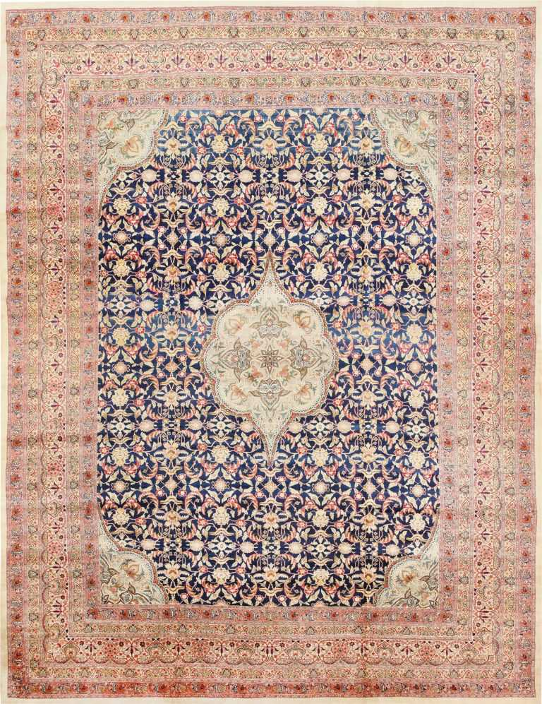Finely Woven Large Oversized Antique Persian Kerman Rug 48945 Nazmiyal