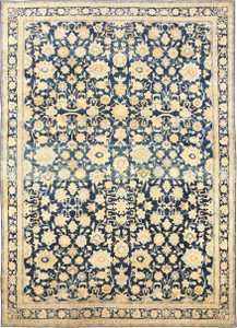 Large Oversized Antique Kerman Persian Rug 48690 Nazmiyal