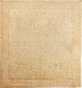 Large Square Size Antique Decorative Turkish Oushak Rug 48377 Nazmiyal