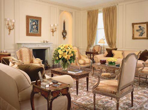 Living Room Decorated by Alexa Hampton Interiors by Nazmiyal