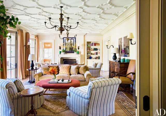 Living Room Interior Design By Michael Smith by Nazmiyal