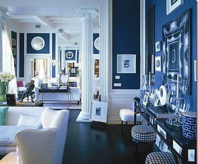 Blue and White Room Decorated by Victoria Hagan Interior Design Nazmiyal