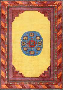 Small Funky and Tribal Antique Khotan Rug 48784 Nazmiyal