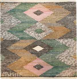 Small Square Vintage Swedish Marta Maas Kilim Rug 48901 Nazmiyal
