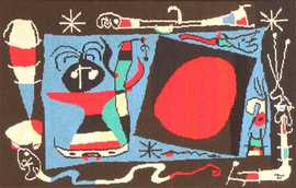 Textile Art Tapestry by Artist Joan Miro 48946 Nazmiyal