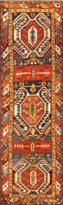 Tribal Antique Caucasian Lankoran Runner Rug 48929 Nazmiyal
