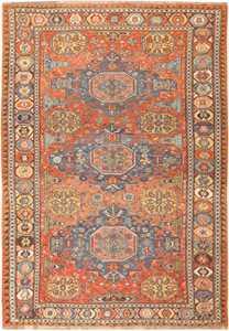 Tribal Antique Flat Woven Caucasian Soumak Rug 48054 Nazmiyal