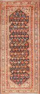 Tribal Antique Qashqai Persian Gallery Size Rug 48881 Nazmiyal