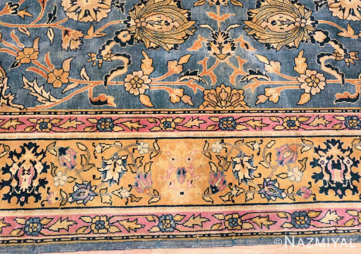 antique gallery size indian agra rug 48726 border Nazmiyal