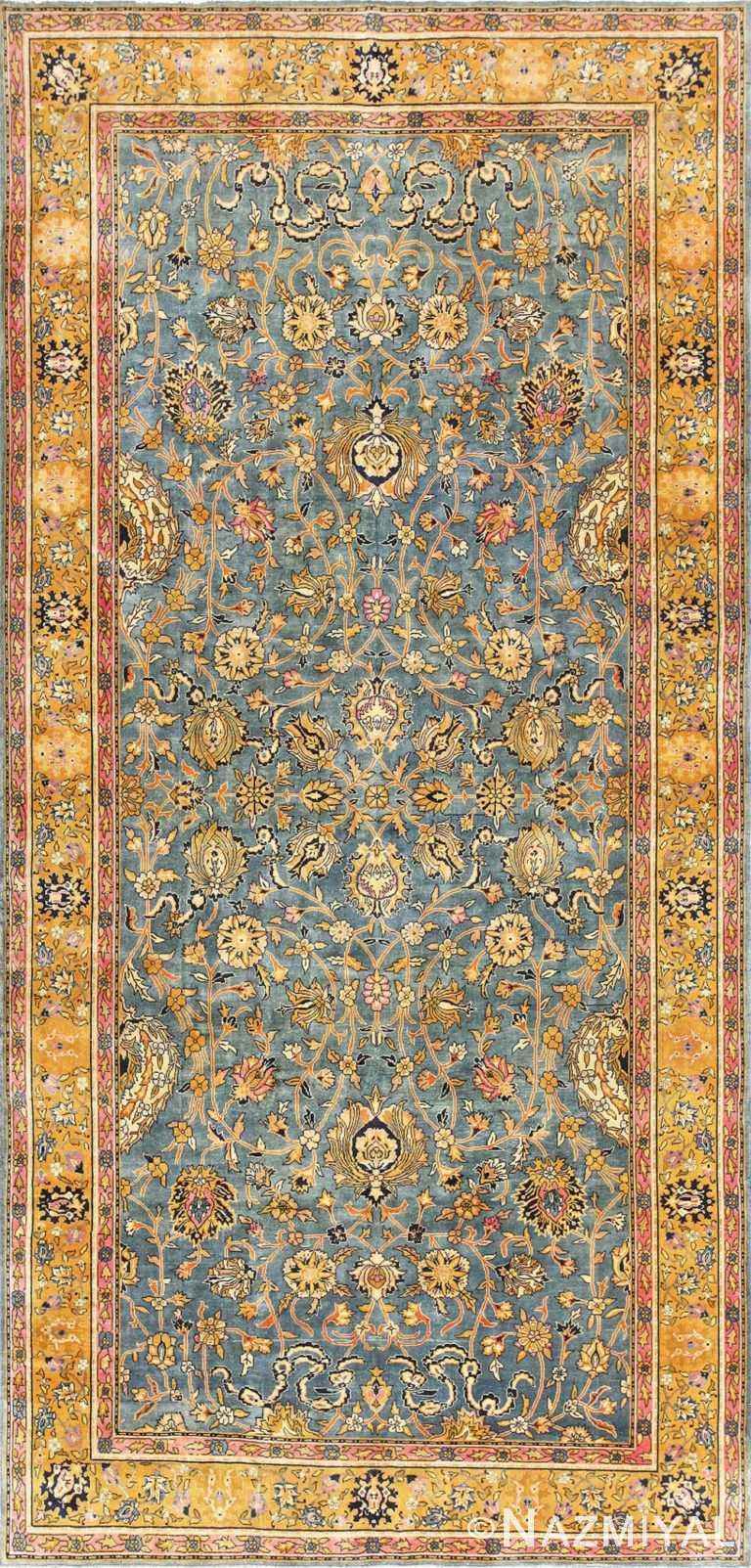 Antique Gallery Size Indian Agra Rug 48726 Nazmiyal