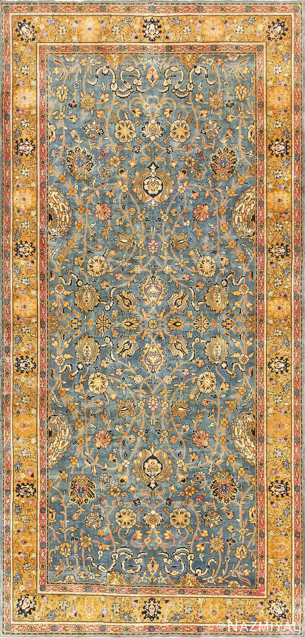 Antique Gallery Size Indian Agra Rug 48726 Nazmiyal