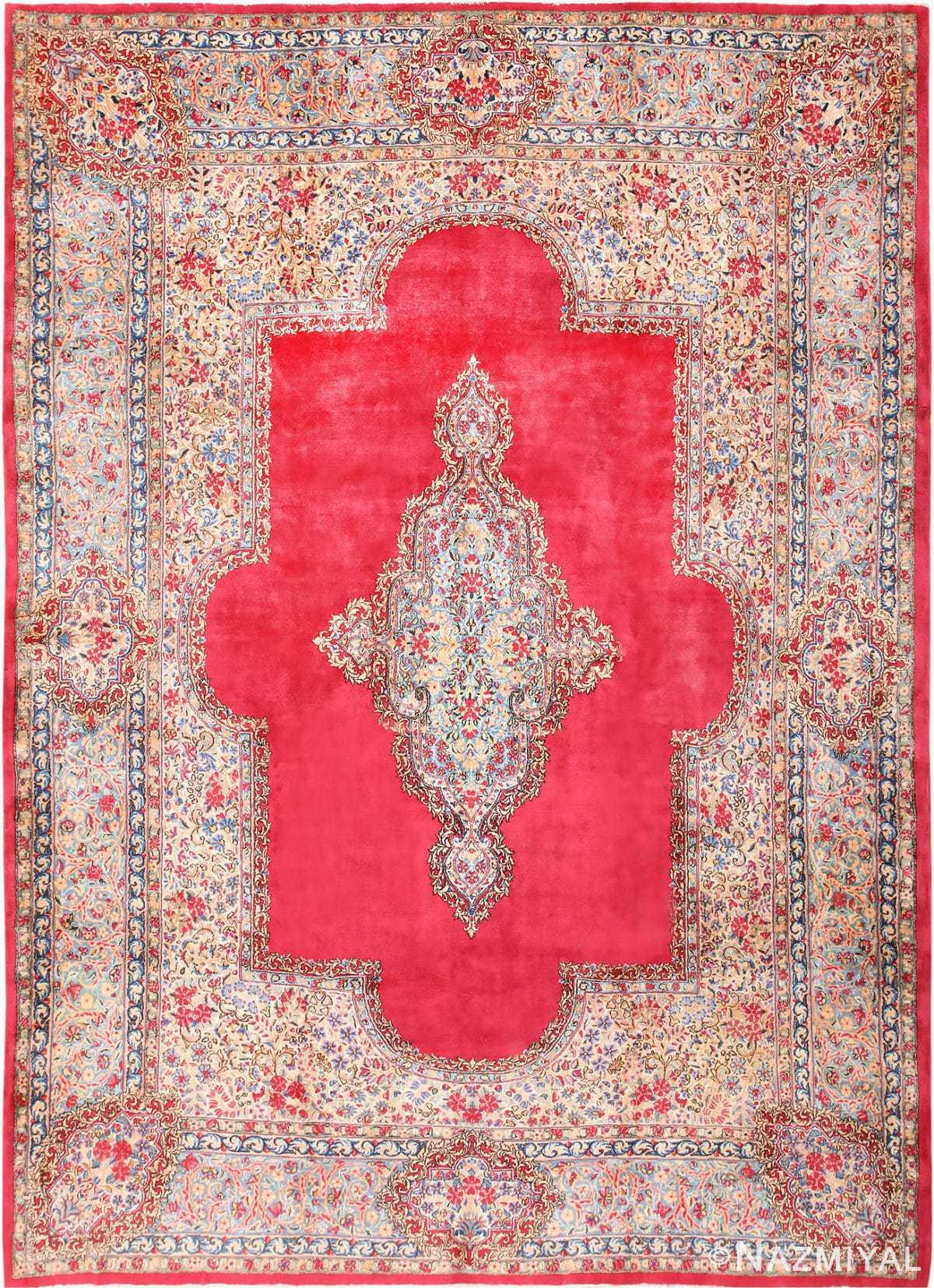 Antique Kerman Persian Rug 43518 Detail Large View