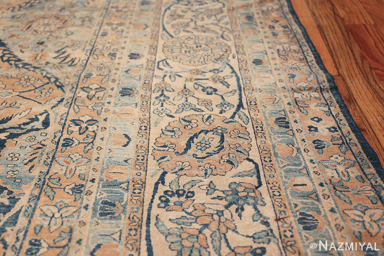 Antique Oversized Lattice Design Persian Kerman Rug 48268 Lines Border Nazmiyal