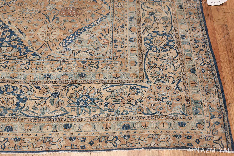 Antique Oversized Lattice Design Persian Kerman Rug 48268 Side Corner Nazmiyal
