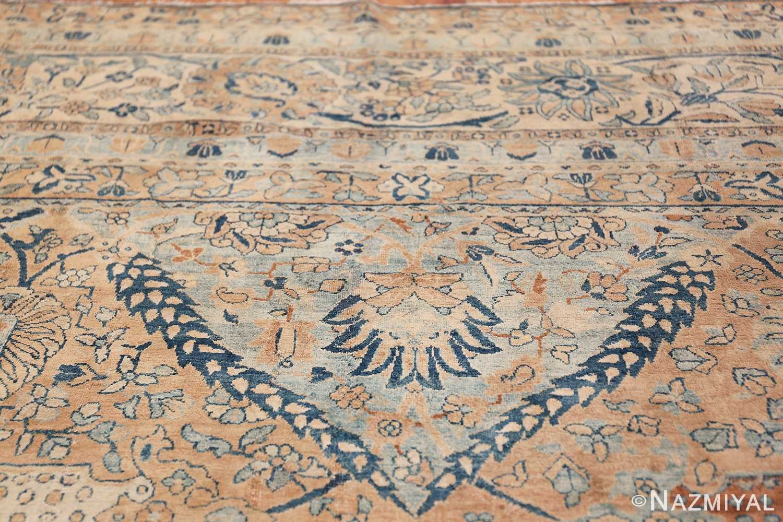 Antique Oversized Lattice Design Persian Kerman Rug 48268 Top Light Blue Nazmiyal