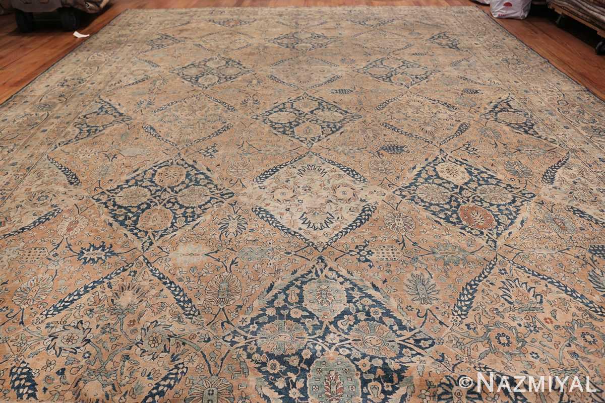 Antique Oversized Lattice Design Persian Kerman Rug 48268 Whole Design Nazmiyal