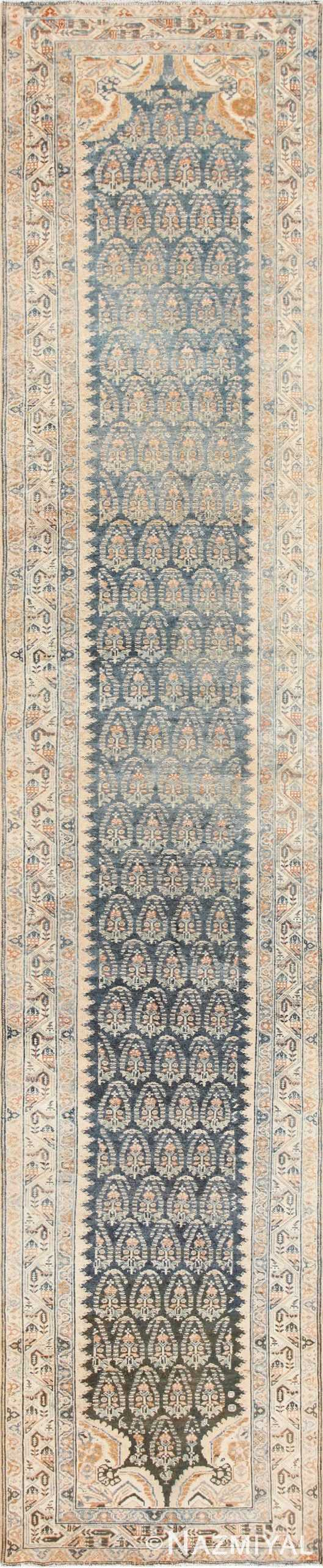 Antique Paisley Design Persian Malayer Runner Rug 48824 Nazmiyal