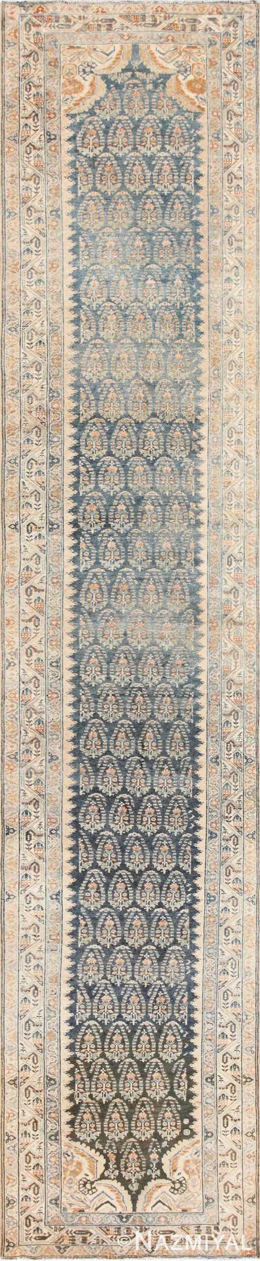 Antique Paisley Design Persian Malayer Runner Rug 48824 Nazmiyal