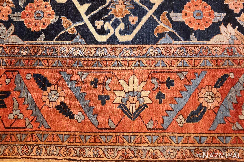 antique persian blue colored heriz rug 48860 border Nazmiyal