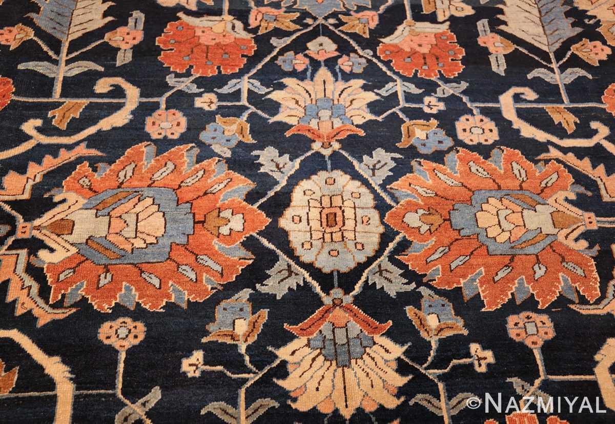 antique persian blue colored heriz rug 48860 center Nazmiyal