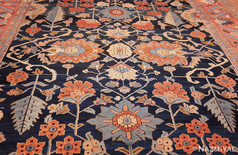 antique persian blue colored heriz rug 48860 field Nazmiyal