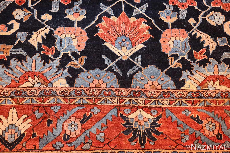 antique persian blue colored heriz rug 48860 top Nazmiyal