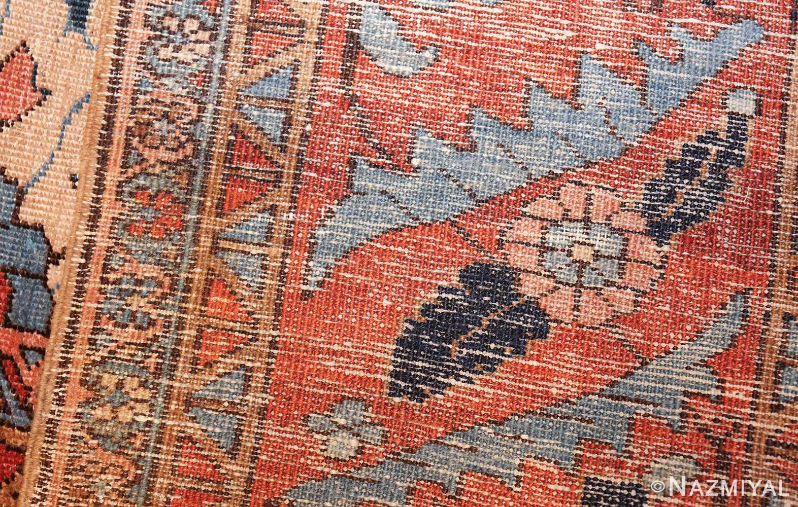 antique persian blue colored heriz rug 48860 weave Nazmiyal