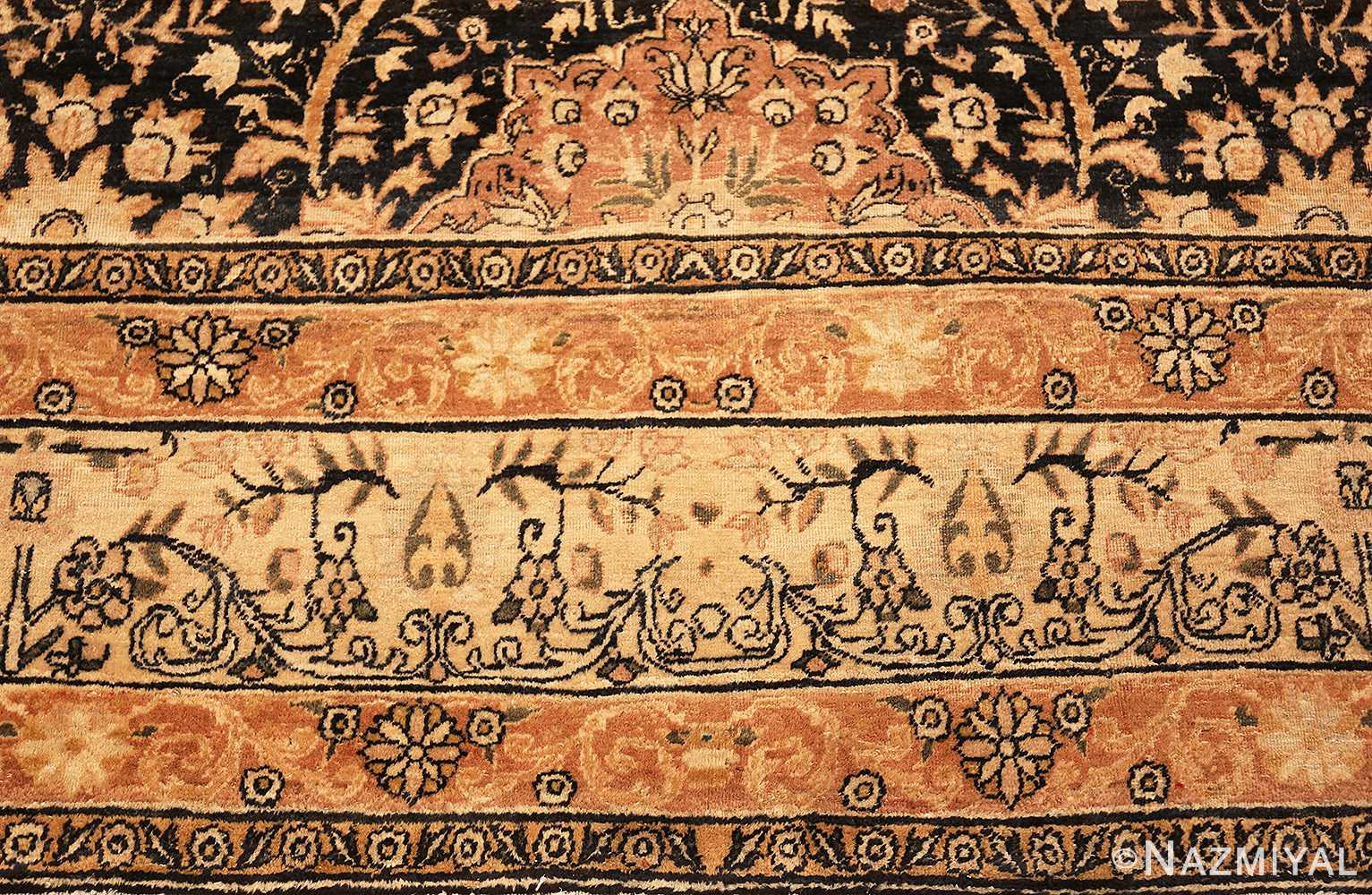 Border Picture of An Antique Persian Kerman Rug by Nazmiyal