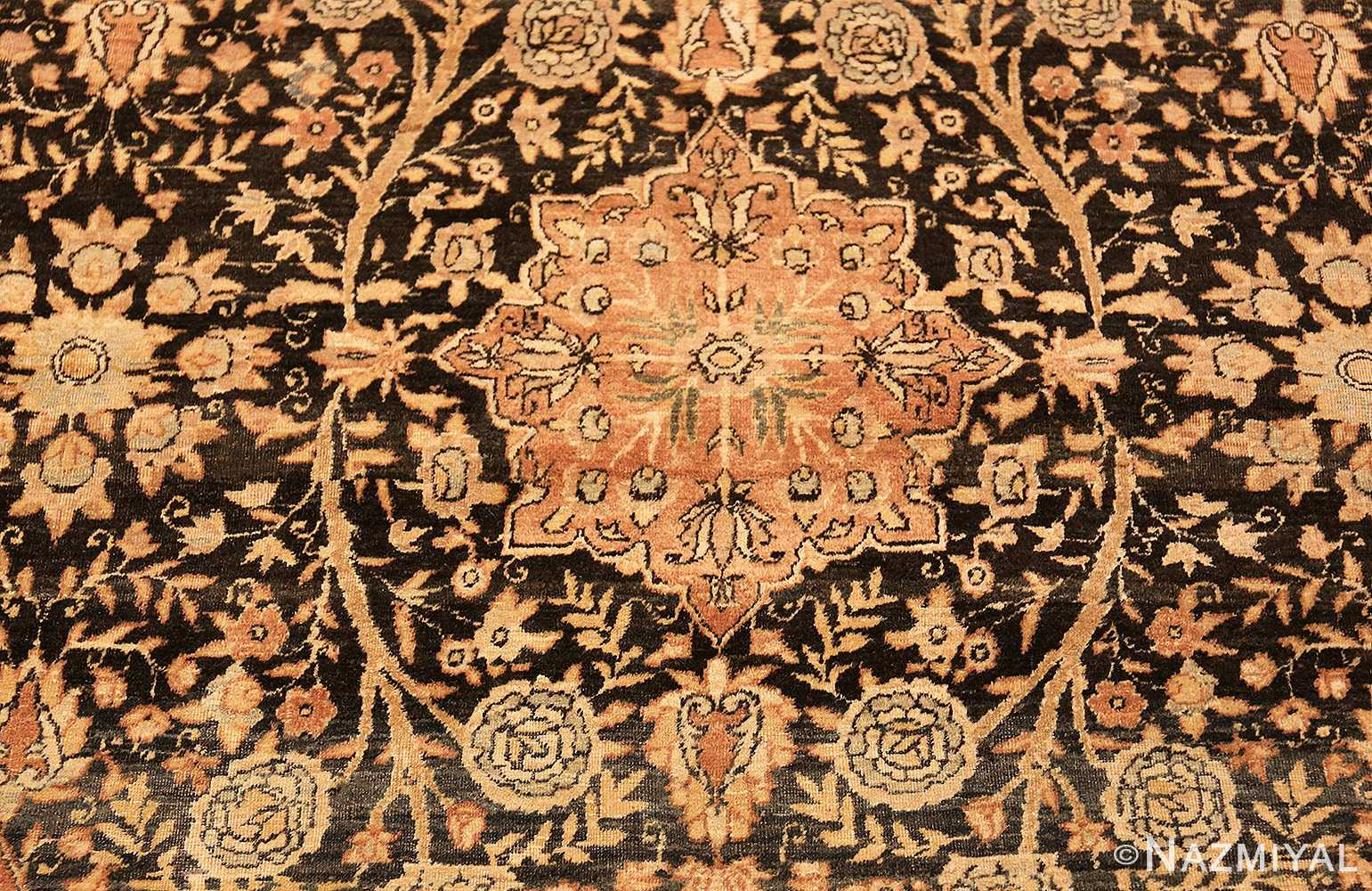 Detailed Picture of An Antique Persian Kerman Rug from Nazmiyal Rugs by Nazmiyal