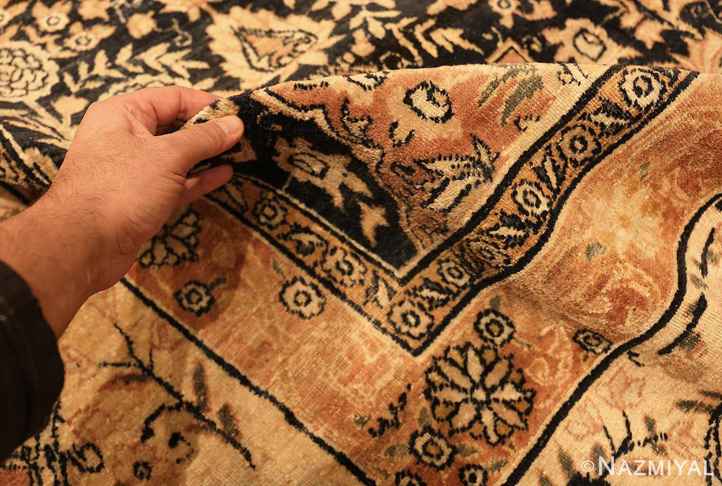 Pile Picture of An Antique Persian Kerman Rug by Nazmiyal