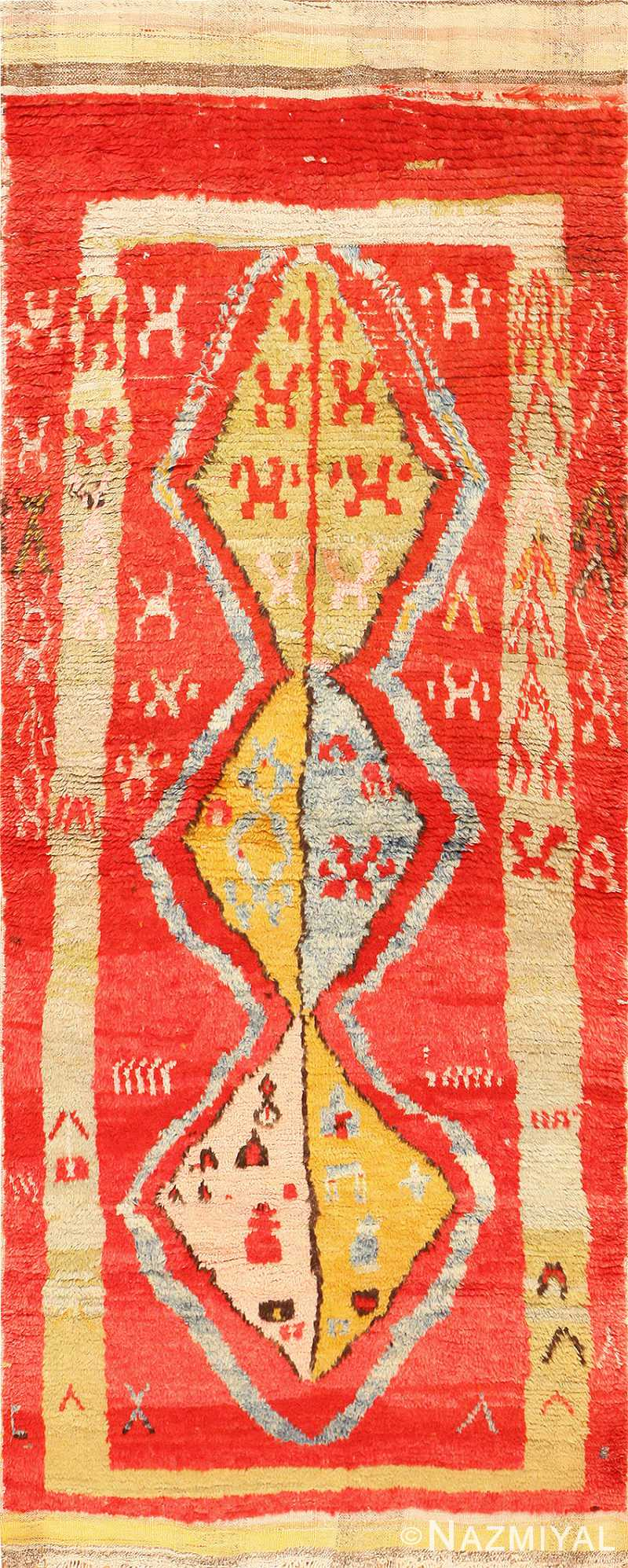 Antique Tribal and Collectible Turkish Yuruk Rug 48931 Nazmiyal