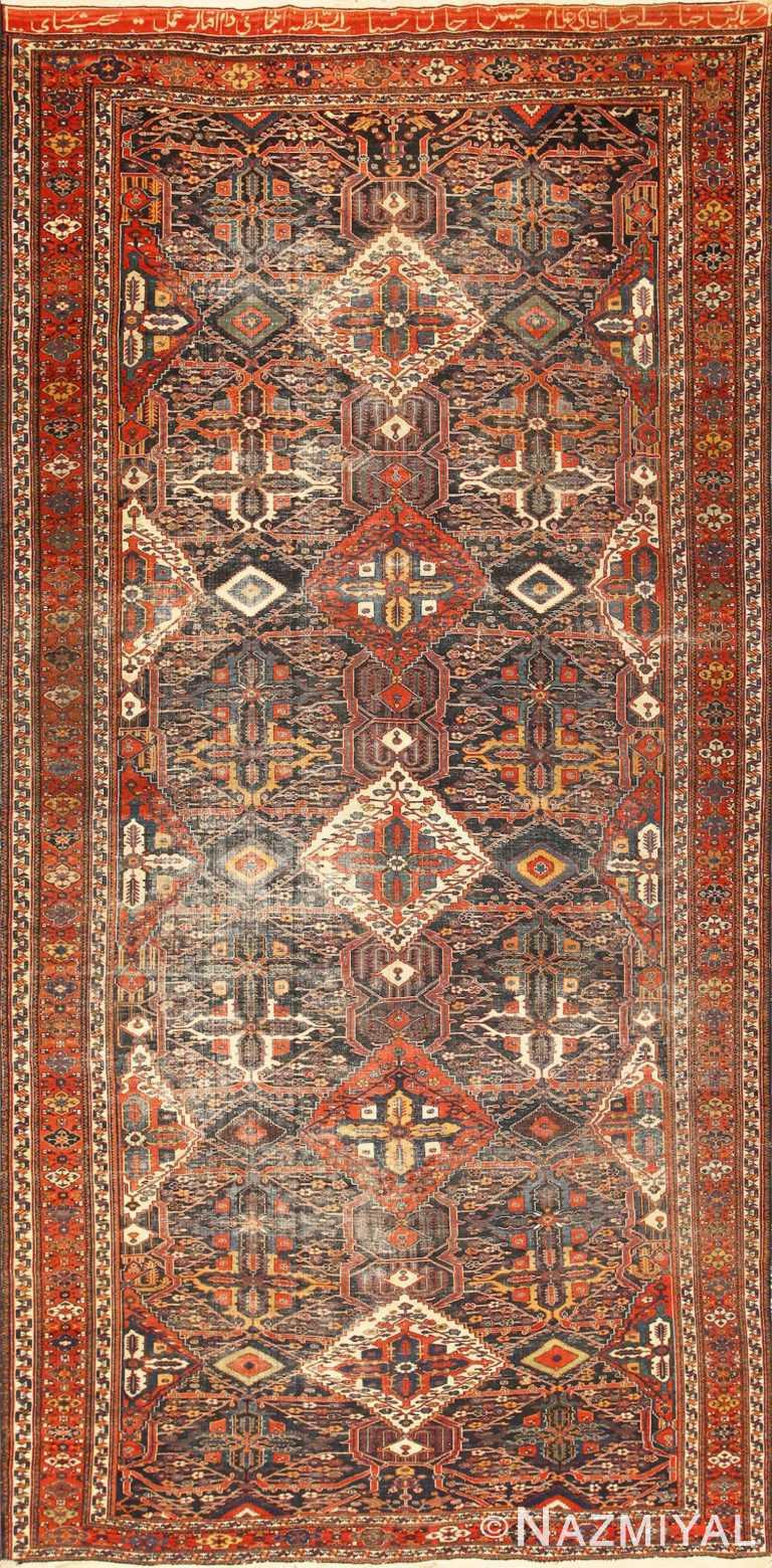 Antique Tribal Persian Bakhtiari Shabby Chic Rug 48937 Nazmiyal