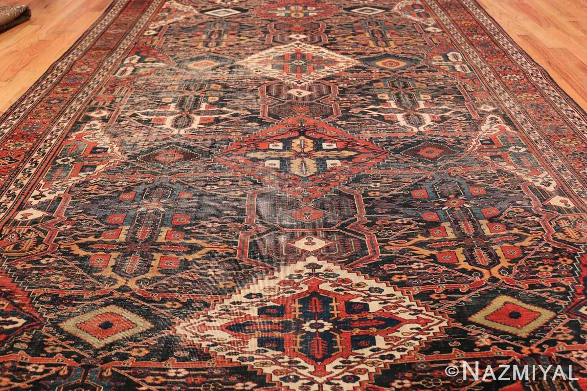 Antique Tribal Persian Bakhtiari Shabby Chic Rug 48937 Field Design Nazmiyal