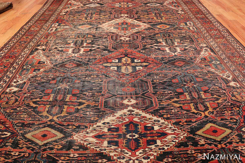 Antique Tribal Persian Bakhtiari Shabby Chic Rug 48937 Field Design Nazmiyal