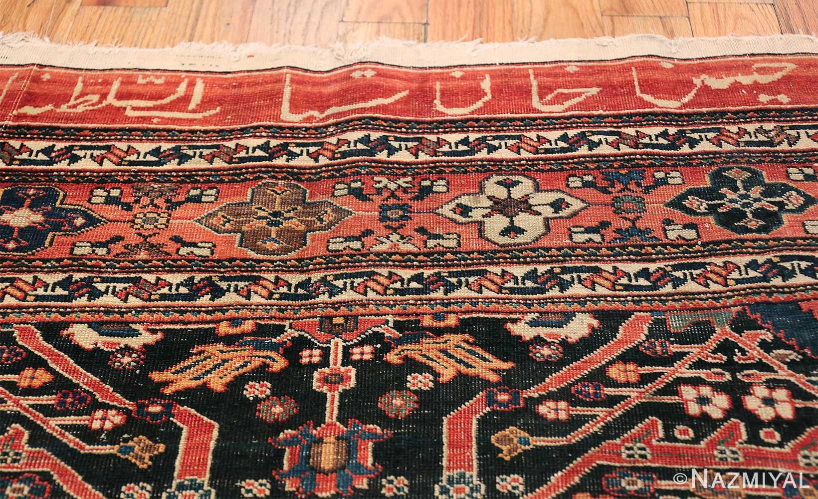 Antique Tribal Persian Bakhtiari Shabby Chic Rug 48937 Name Signature Nazmiyal