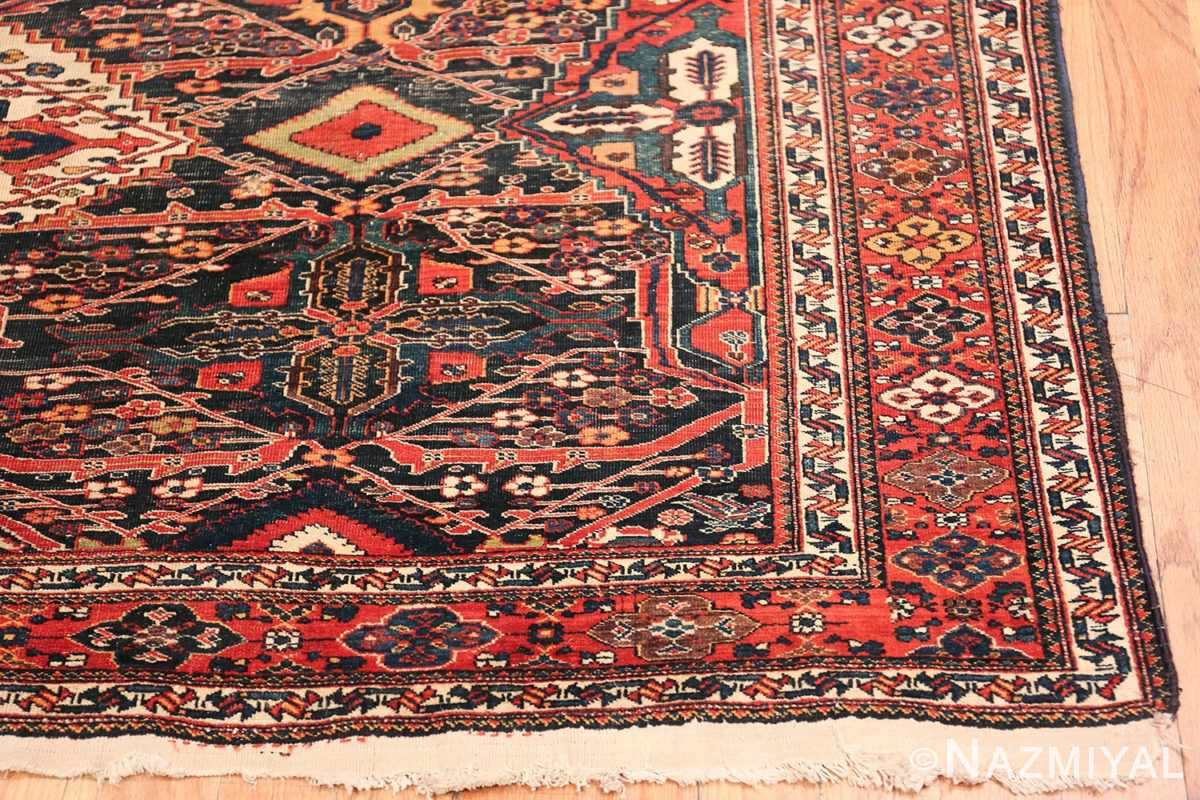 Antique Tribal Persian Bakhtiari Shabby Chic Rug 48937 Side Corner Nazmiyal